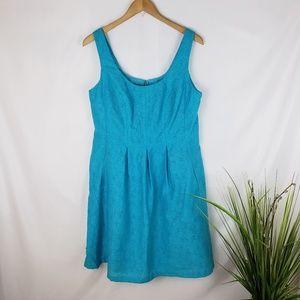 Nine West Blue Pocketed Dress Size 14